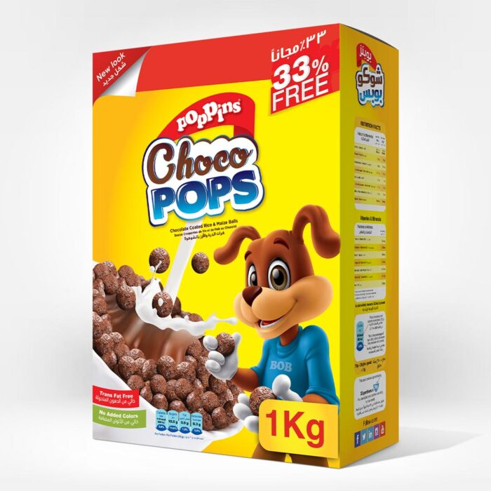 Poppins® Choco Pops 750g + 33%